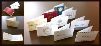 名刺・名刺作成・名刺印刷・名刺デザイン デザイン名刺の名刺広芸-二つ折り ポイントカード スタンプカード