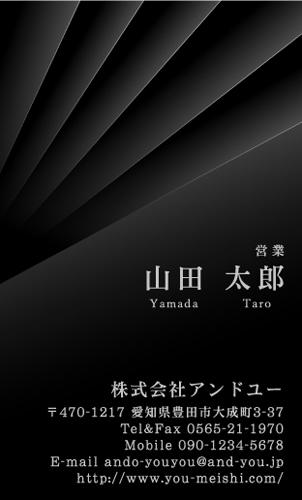 センスいい かっこいい 名刺デザイン AY-CO-081