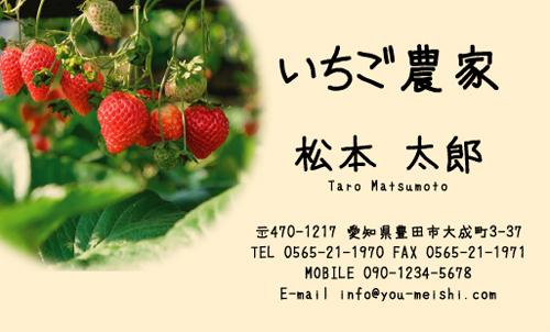 農家 農場 農園 ファームの名刺デザイン farm-NI-020