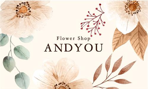 花 花柄名刺 デザイン NI-HA-285