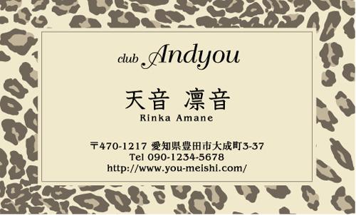キャバクラ キャバ嬢 キャバ 名刺デザイン hostesses-060