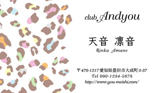 キャバクラ キャバ嬢 キャバ 名刺デザイン hostesses-069