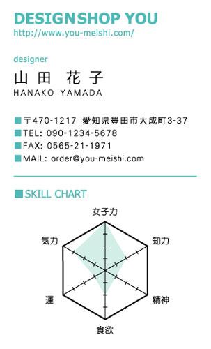 ユニークで面白い 個性派名刺 AY-KO-037デザイン AY-KO-037