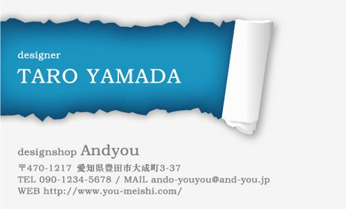 ユニークで面白い 個性派名刺 AY-KO-061デザイン AY-KO-061