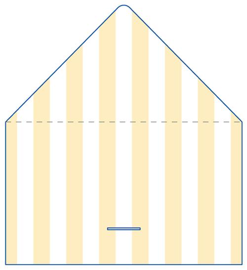 レター型 二つ折り 名刺デザイン AK-LE-008
