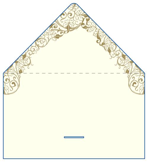 レター型 二つ折り 名刺デザイン AK-LE-021