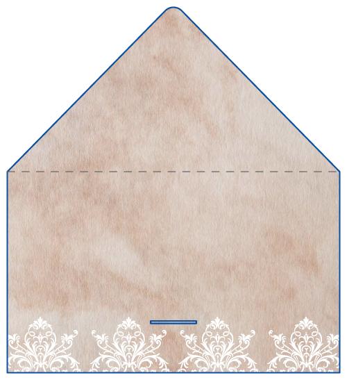 レター型 二つ折り 名刺デザイン AK-LE-036