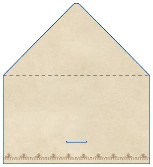 レター型 二つ折り 名刺デザイン AK-LE-045