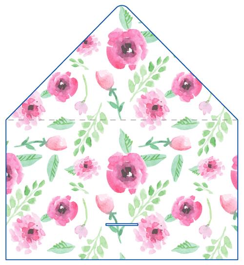 レター型 二つ折り 名刺デザイン NI-LE-052