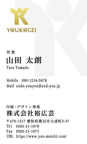 ロゴ・会社名 金・銀・メタリックゴールド・シルバー・ピンク・ホログラム印刷名刺デザイン AY-LOSP-003