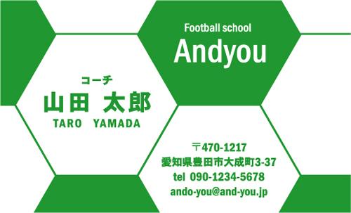 サッカー教室・サッカーコーチ 監督 指導者の名刺 soccer-AY-009