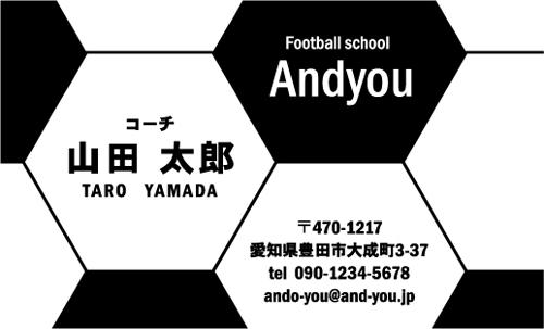 サッカー教室・サッカーコーチ 監督 指導者の名刺 soccer-AY-010