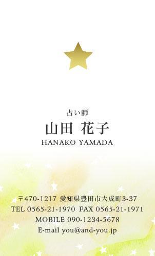 ワンポイント 金・銀・メタリックゴールド・シルバー・ピンク・ホログラム印刷名刺デザイン HR-SP2-011