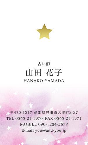 ワンポイント 金・銀・メタリックゴールド・シルバー・ピンク・ホログラム印刷名刺デザイン HR-SP2-012
