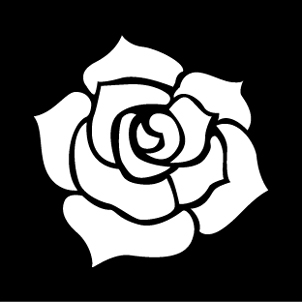 薔薇を大胆にあしらった クールでかっこいい名刺です