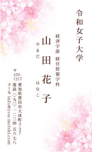 学生・大学生・大学院生・就活名刺 student-AY-001