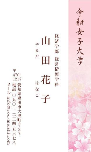 学生・大学生・大学院生・就活名刺 student-AY-002