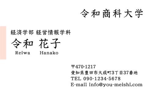 学生・大学生・大学院生・就活名刺 student-NI-038