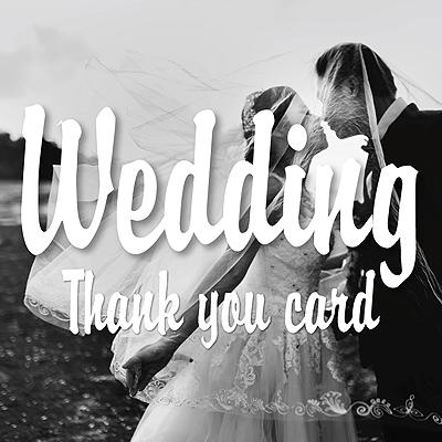 結婚式 サンキューカード サンクスカード おしゃれなデザイン